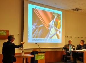 Gunter Hankammer zeigt typische Mängel im Bild (Foto: Tanja Buß)